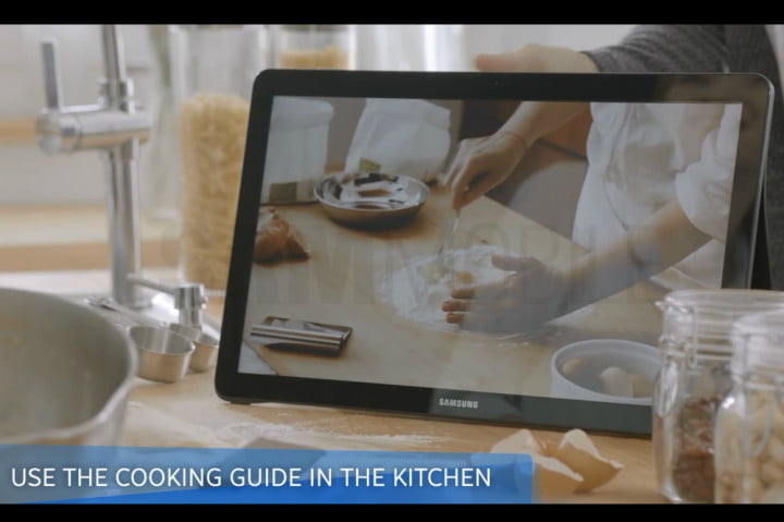 samsung may be preparing to launch an ipad killer galaxy view cooking leak