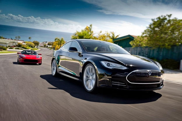Tesla Model S and Tesla Roadster