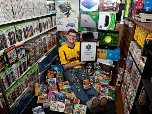 game hoard new world record video collection gamer