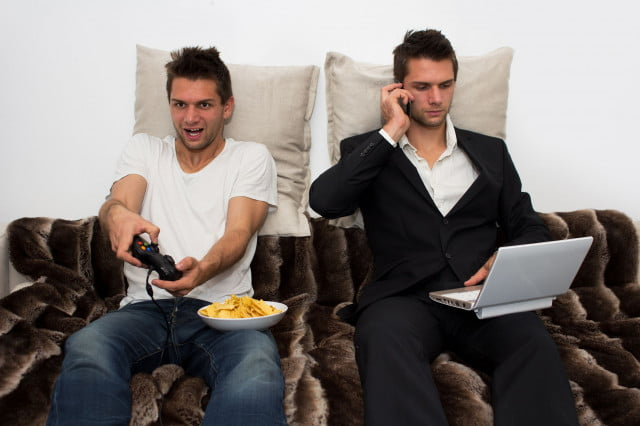 gameplayers versus gamers study gamer stock photo