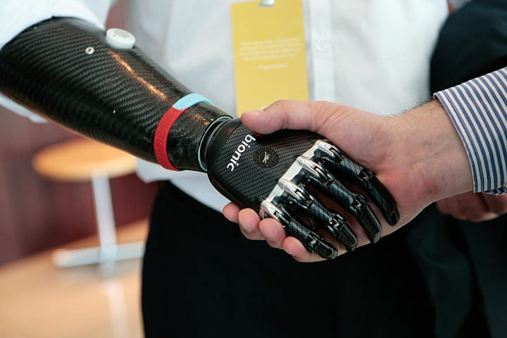 inside dmitry itskovs global future  conference ge bebionic artificial hand podium