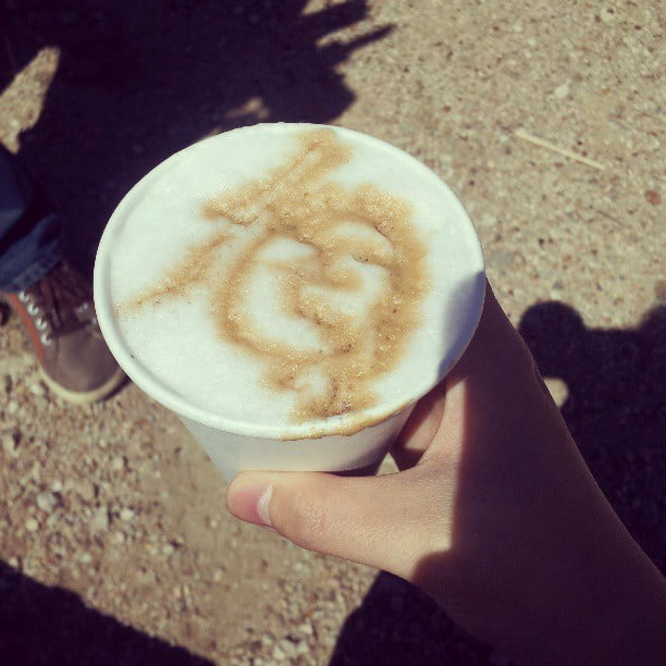 face coffee art