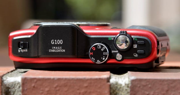 ge power pro series g100 review digital camera top controls point and shoot compact camera