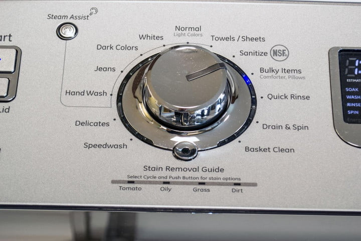 ge gtws  hws review washer center dial full