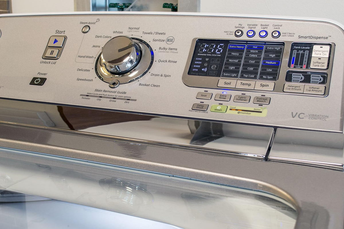 amazon dash replenishment service pairs with ge samsung and more washer gtws  hws top control left angle