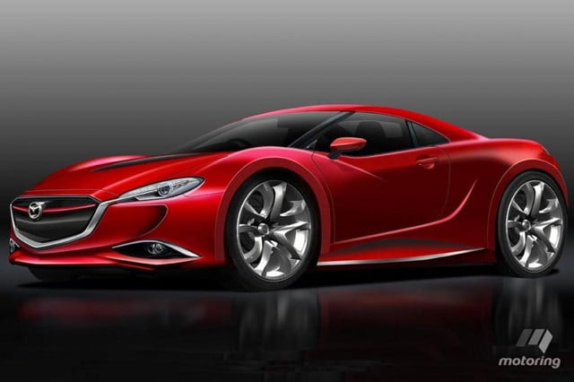 mazda global design chief future rx will never give  rendering