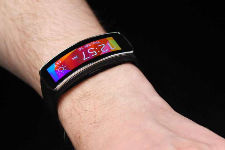 Gear Fit Watch on wrist
