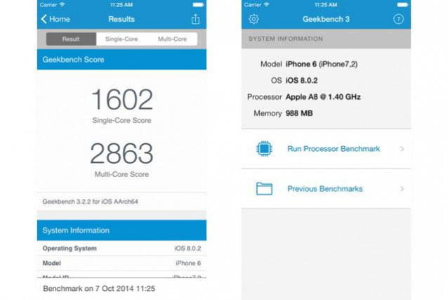 Geekbench 3 Photo