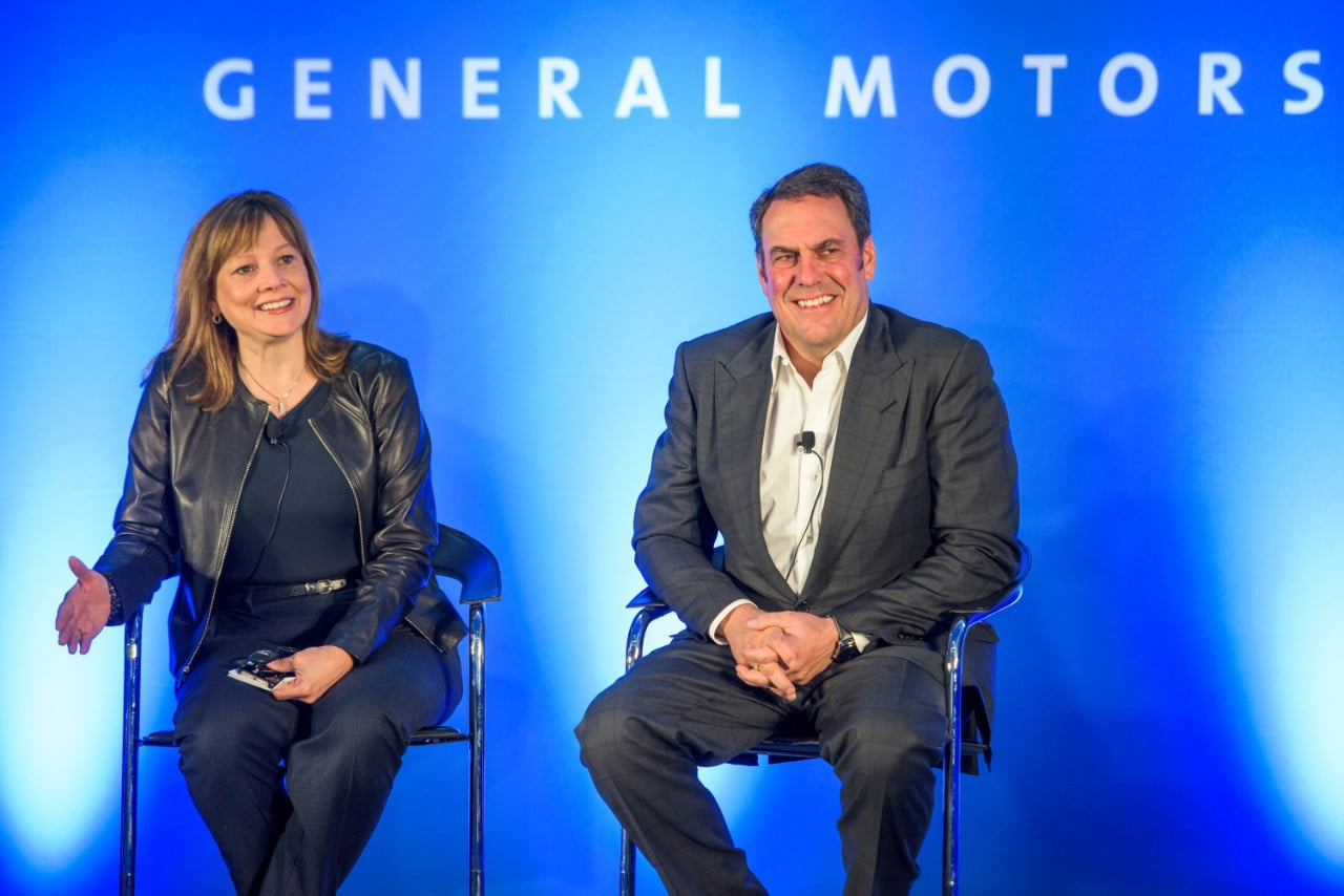 General Motors CEO Mary Barra and GM Executive Vice President of Global Product Development Mark Reuss
