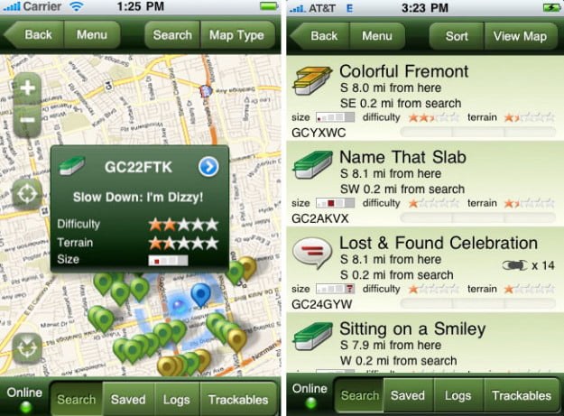 Geocaching-ipod-touch-app-screenshot