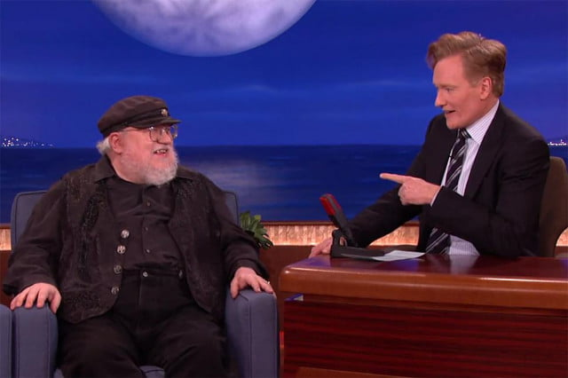 george rr martin game of thrones author writes on dos pc conan