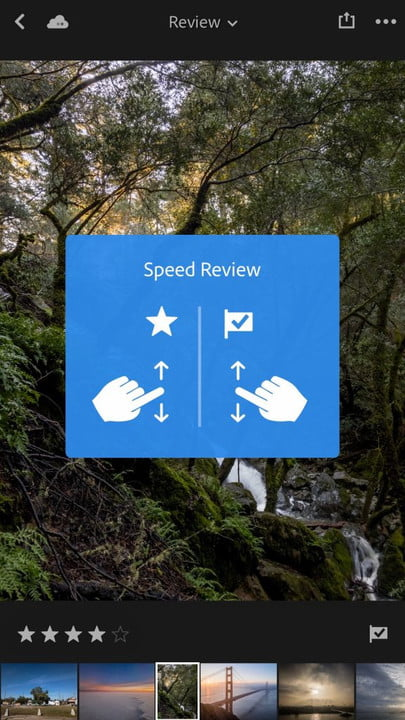 lightroom mobile adds hdr dng gestures for rate and review