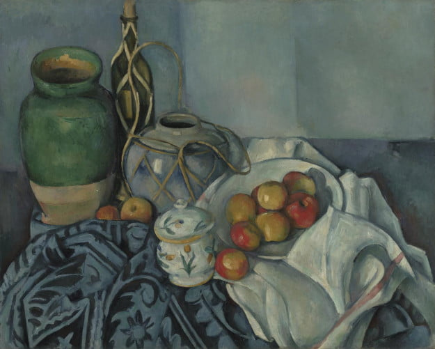 Paul Cézanne (French, 1839 - 1906) Still Life with Apples, 1893 - 1894, Oil on canvas Unframed: 65.4 x 81.6 cm (25 3/4 x 32 1/8 in.) Framed [outer dim]: 84.5 x 101.3 x 6 cm (33 1/4 x 39 7/8 x 2 3/8 in.) The J. Paul Getty Museum, Los Angeles