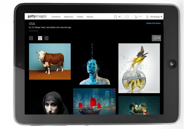 getty images unveils boards a new project collaboration tool for finding on ipad