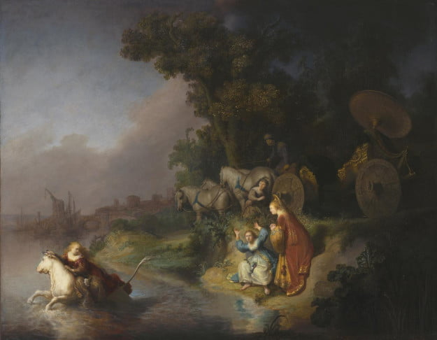 Rembrandt Harmensz. van Rijn (Dutch, 1606 - 1669) The Abduction of Europa, 1632, Oil on single oak panel Unframed: 64.6 x 78.7 cm (25 7/16 x 31 in.) Framed [outer dim]: 77.2 x 93.7 x 5.4 cm (30 3/8 x 36 7/8 x 2 1/8 in.) The J. Paul Getty Museum, Los Angeles