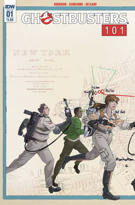 ghostbusters  crossover comic cover