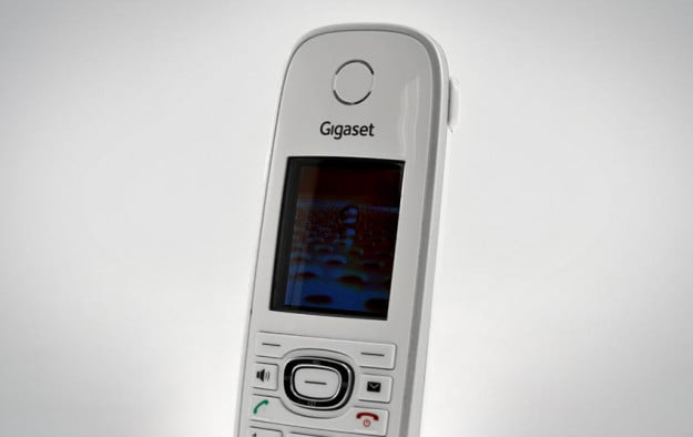 Gigaset C595 C590 cordless telephone review front face details
