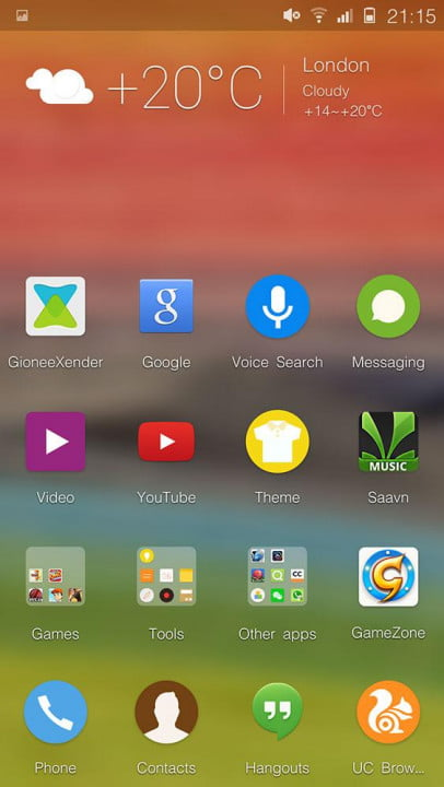 gionee elife s  review screenshot