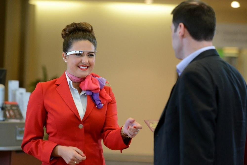 google glass trialled by virgin atlantic staff at londons heathrow airport