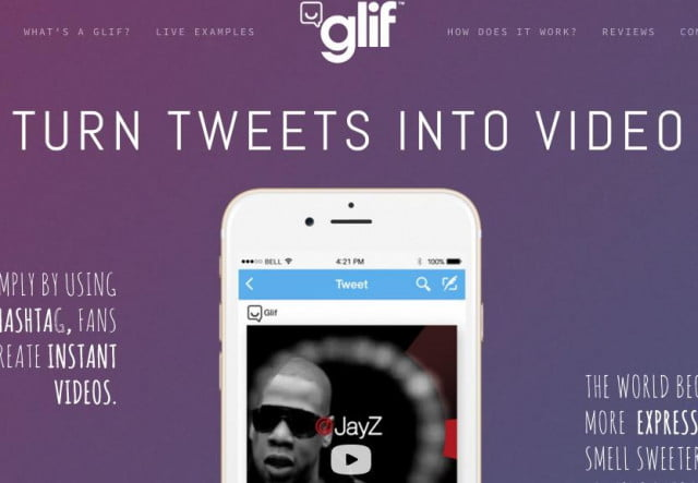social media tool twitte branded video content glif screenshot