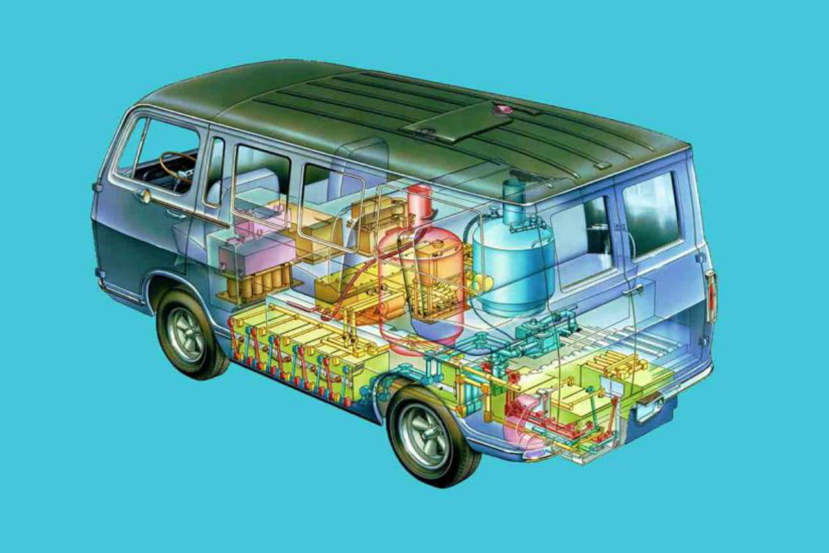 gm hydrogen fuel cell  years electrovan th anniversary