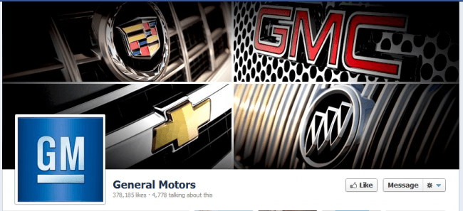 GM pulls ads from Facebook