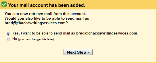gmail account added set up email in windows 8