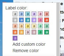 Gmail label colors 2