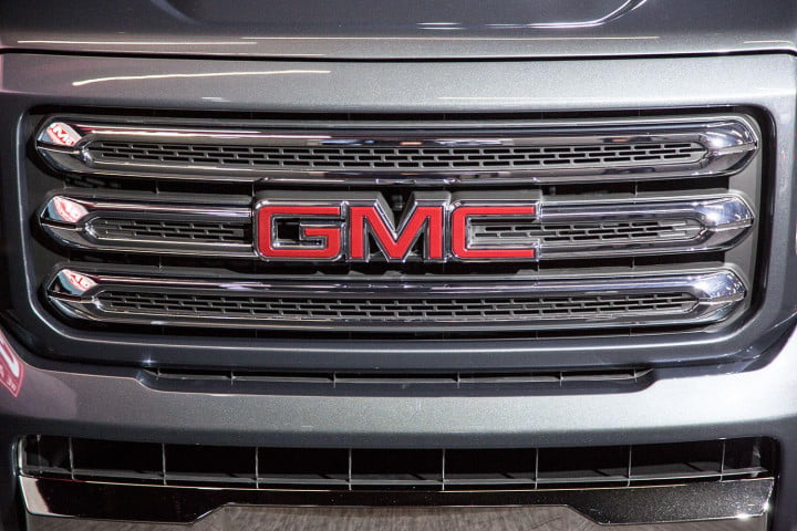 gmc canyon european refinement mated unabashedly american truck grill