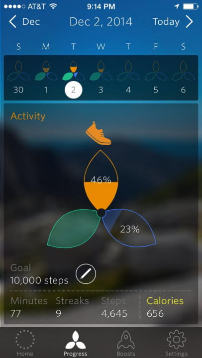 spire activity tracker review goal