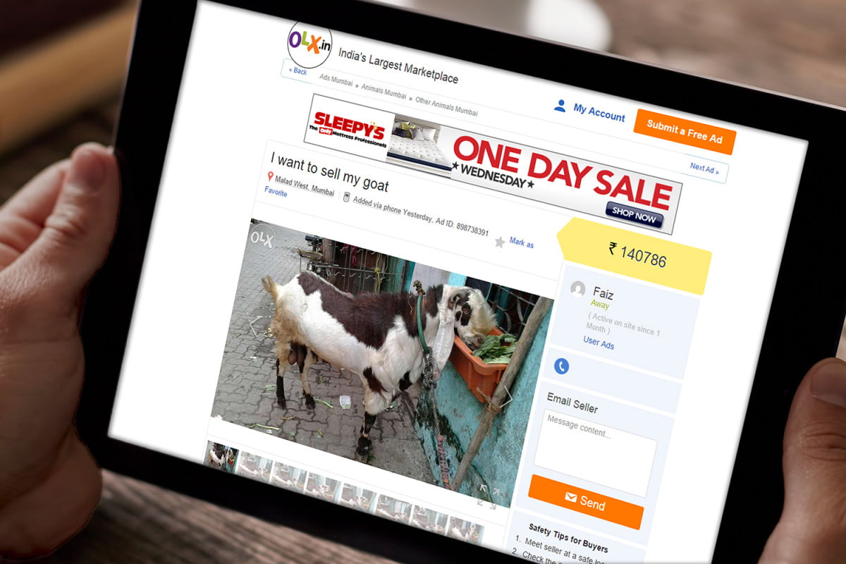 indian goat merchants now bringing their wares to buyers via online market selling