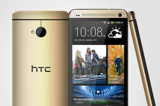 gold htc one announced