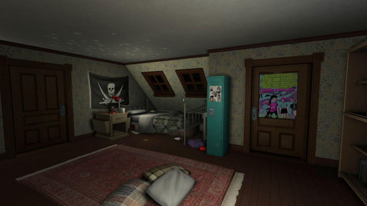 gone home review game screenshot bedroom