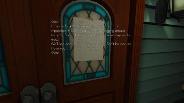 Gone Home game screenshot read note