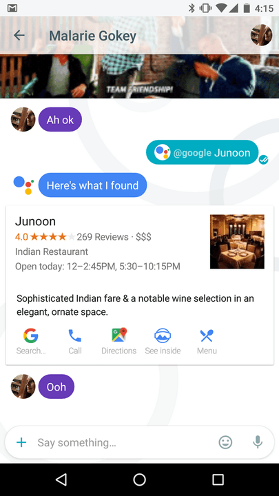 google allo review screenshot