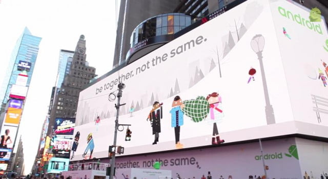 google androidifiy times square android billboard