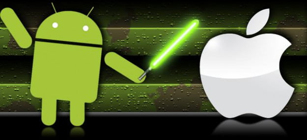 Google fighting Apple with a lightsaber