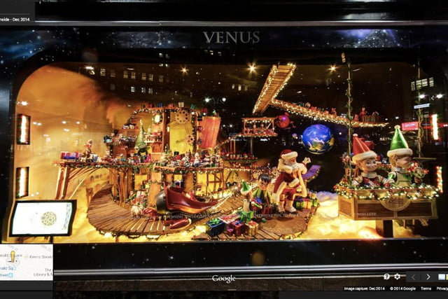 google offers views of festive store window displays in ny city and beyond business view