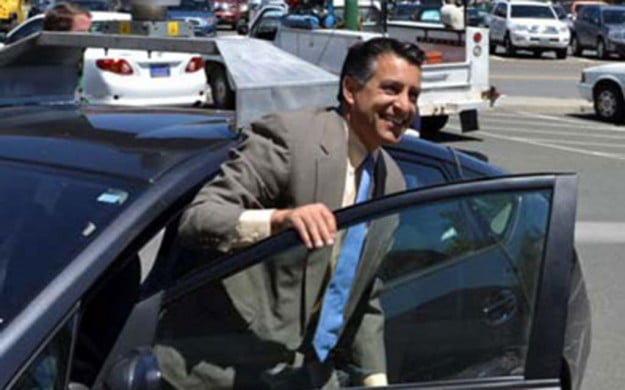 Nevada Governor Brain Sandoval with Google car