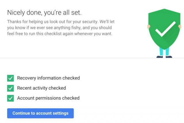 secure your google account and get  gb of drive storage checkup