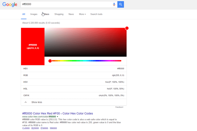google search color converter tool value conversion