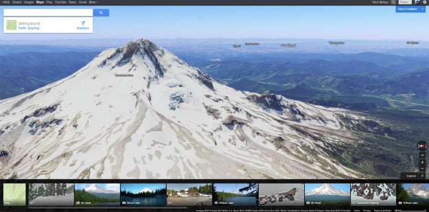 Google conquers cartography 3d mt hood 1