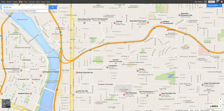 google conquers cartography again with faster cleaner smarter maps new thai search screenshot