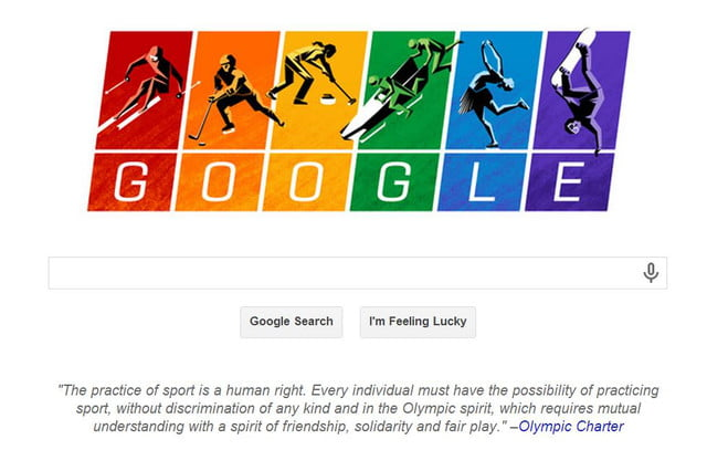 latest google doodle posted defiance russias anti gay law olympics
