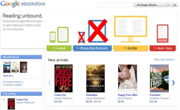google-ebookstore-no-buying-on-ipad-iphone