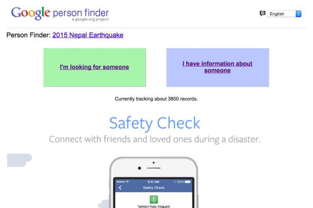 google and facebook help you connect with people in areas hit by the nepal earthquake