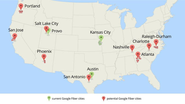 google fiber possibly heading several cities very soon