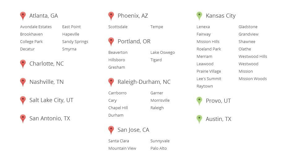 google fiber cities list 2014