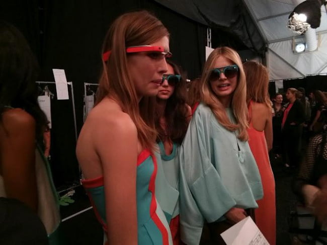 google glasses at diane von furstenberg fashion week show