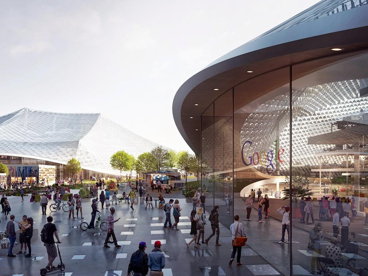 google shows off plans for its futuristic new headquarters hq
